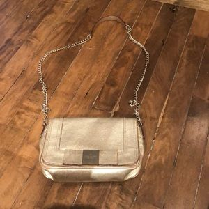 Kate Spade gold bow cross body